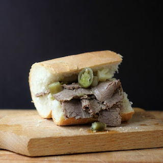 Brisket in the style of Chicago's Italian Beef