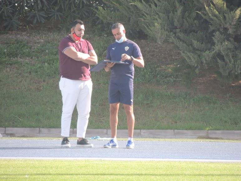 Mohamed Adel y José Gomes.