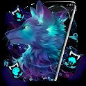 Dark Night Magic Wolf Theme icon