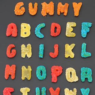 Homemade Sour Gummy Alphabet