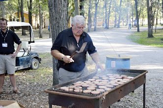 Photo: Bill Cooking the Burgers for the Pot Luck Dinner