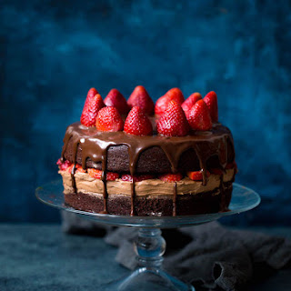Strawberry Chocolate Cake.