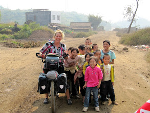 Photo: Day 218  - With the Lovely Children  (China)