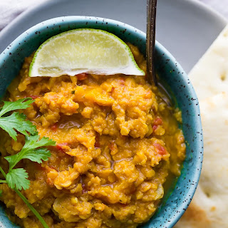 Slow Cooker Butternut Squash Lentil Curry.