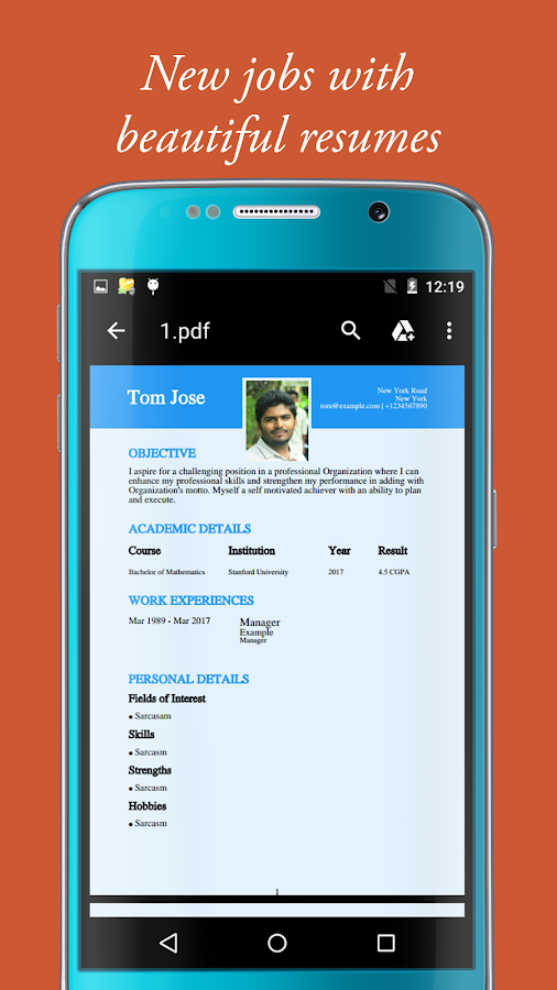 best free resume builder app for android r 233 sum 233