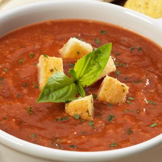 Roasted Tomato Basil Bread Soup