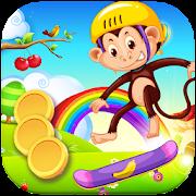 Monkey Jump In Rainforest