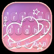 Sweet Love Doodle Heart Keyboard Theme