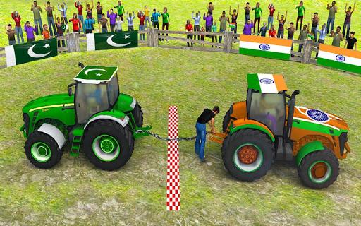 Pull Tractor Games: Tractor Driving Simulator 2019  captures d'écran 2