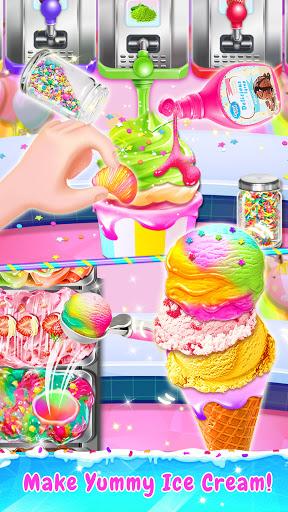 Rainbow Ice Cream - Unicorn Party Food Maker 1.5 screenshots 5