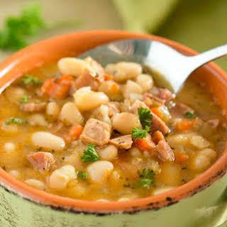 Ham White Bean Soup (Instant Pot, Slow Cooker, Stove Top).