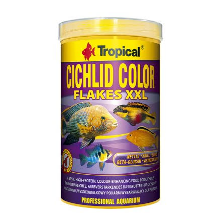 Tropical Cichlid Color Flakes XX-Large 1000ml/160g