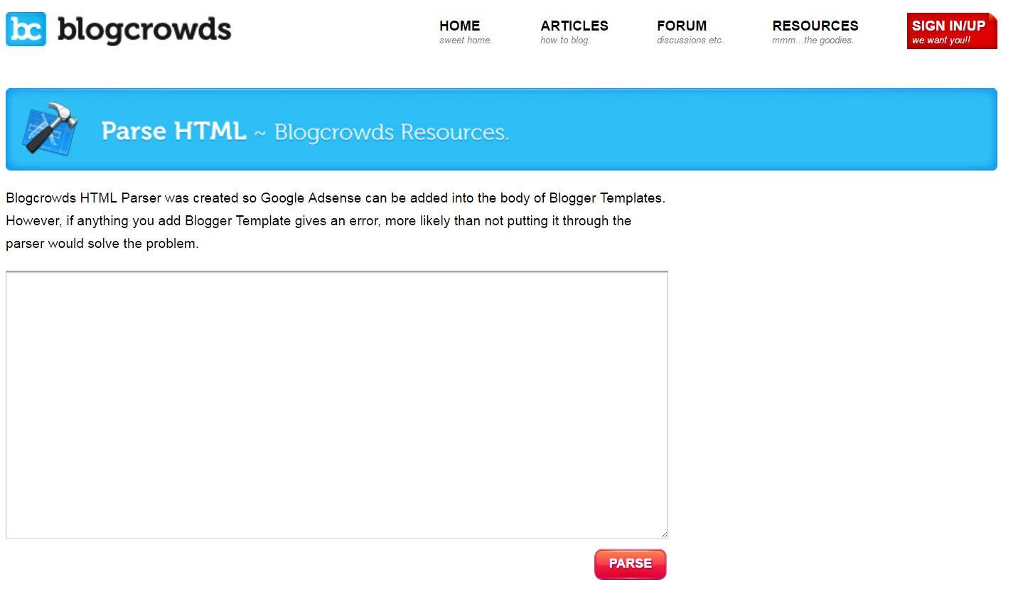 Parse HTML: Inserire codici HTML nei post di Blogger