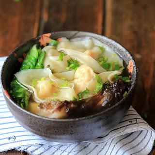 Chinese Shrimp Wonton Soup.