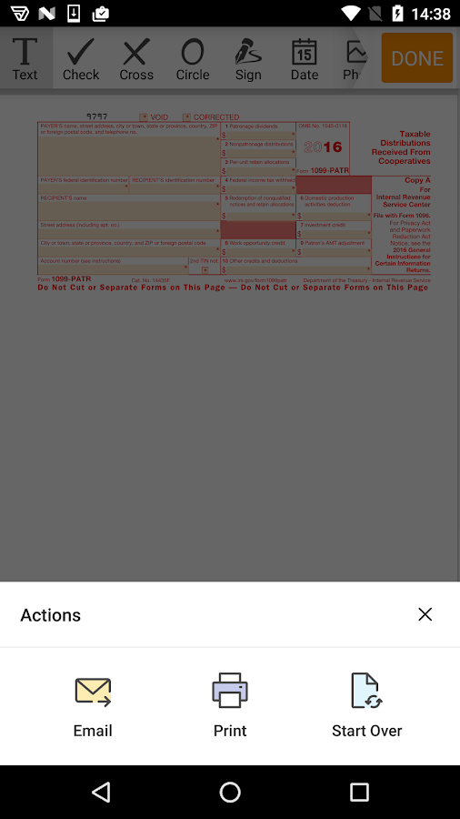 1099-PATR form- screenshot