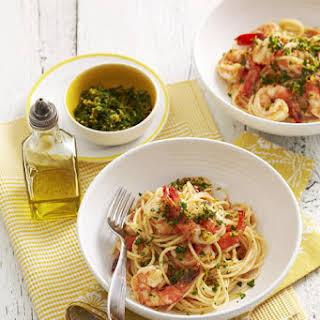 Shrimp and Gremolata Pasta.