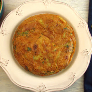 Spanish Omelette With Potato And Tuna.