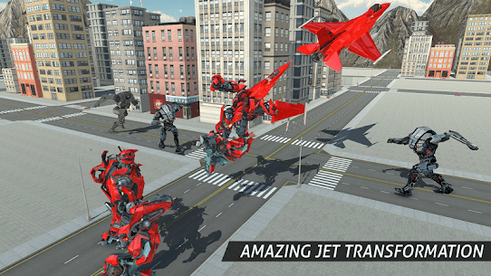 Air Robot Game – Flying Robot Transforming Plane 8