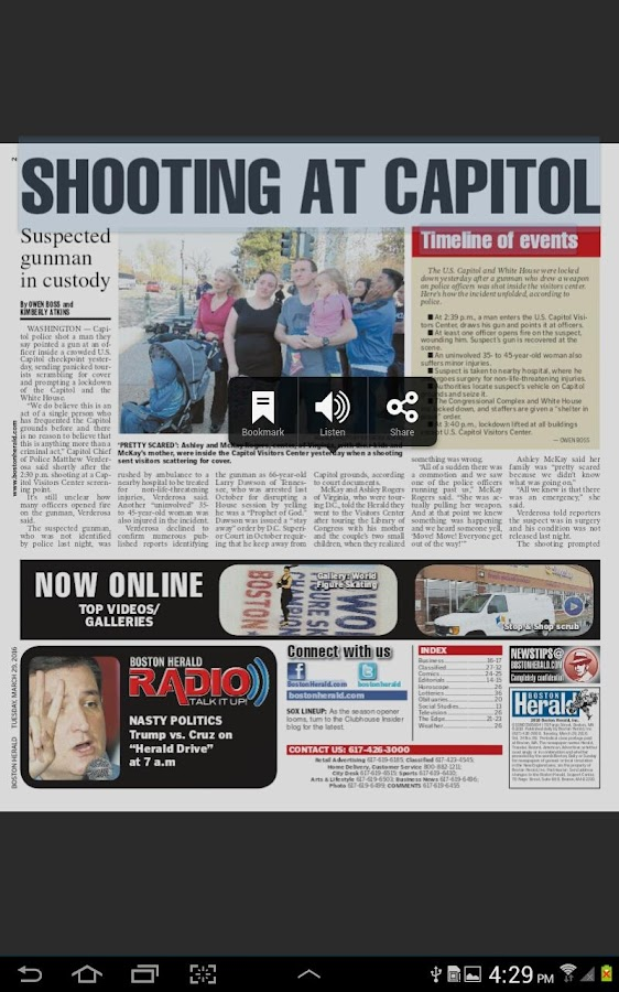 Boston Herald e-Edition- screenshot