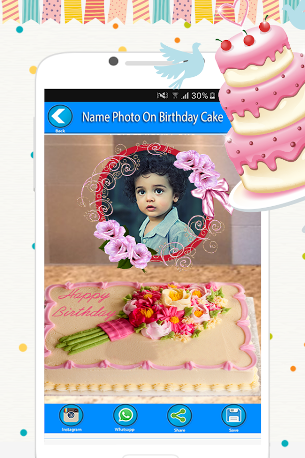 Name Photo On Birthday Cake- screenshot