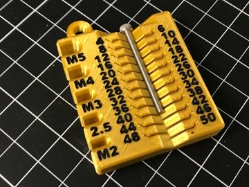 Image of Cool Things to 3D Print: Metric Screw Measuring Device