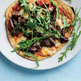 Cauliflower pizza with Greek lamb.