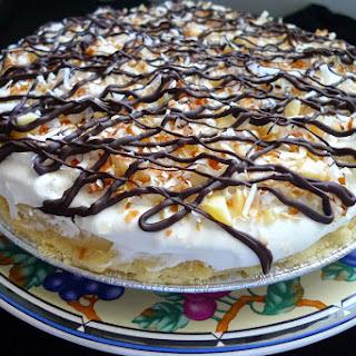 Chocolate Coconut Macadamia Nut Cream Pie