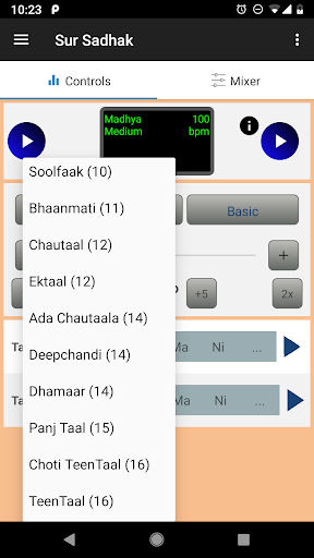 Sur Sadhak:Tabla,Tanpura for Indian Vocal Practice 1.3.8 screenshots 2