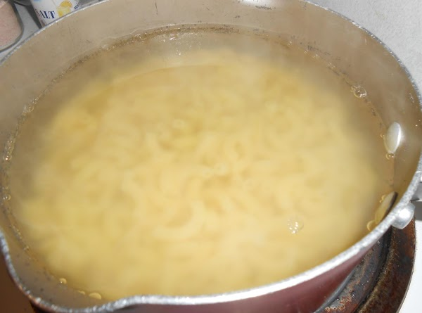 Cook macaroni according to package directions; drain.