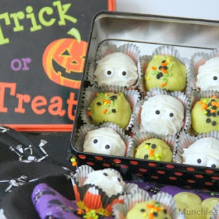 Spooky Pumpkin Chocolate Chip Cake Balls