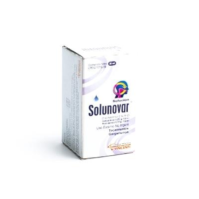 Bencidamina + Cetilpiridino Solunovar Compuesto 60ml