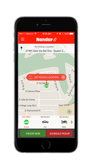 Nandar Rush On-Demand Courier and Delivery App