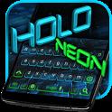 Holo Keyboard Black Tech Theme icon