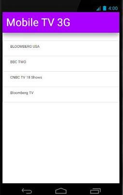 Mobile TV 3G - screenshot
