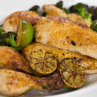 Roasted Chicken with Crispy Broccoli Recipe