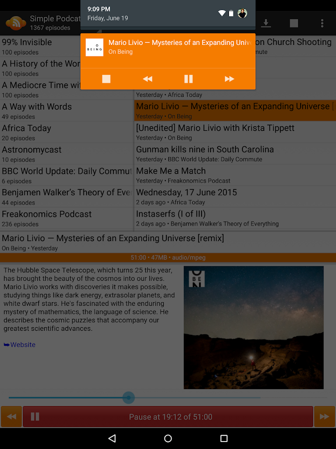 Simple Podcatcher- screenshot