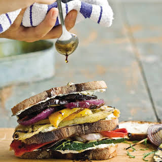 Grilled Vegetable and Goat Cheese Sandwiches.