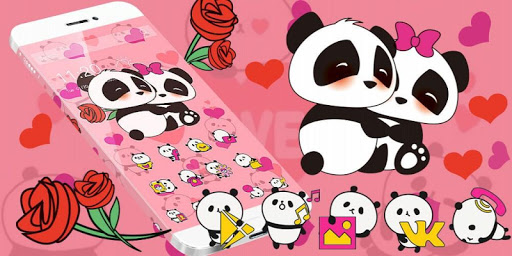 Pink Panda Cute Icons app (apk) free download for Android/PC
