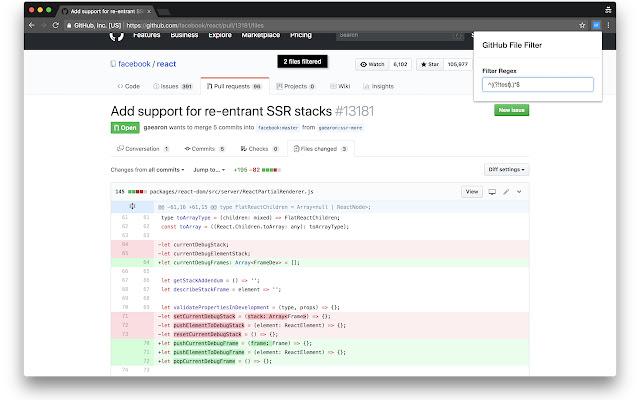 GitHub Filter
