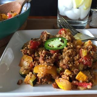 Turkey Quinoa Skillet Casserole.