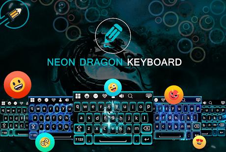 Neon Dragon Keyboard - náhled