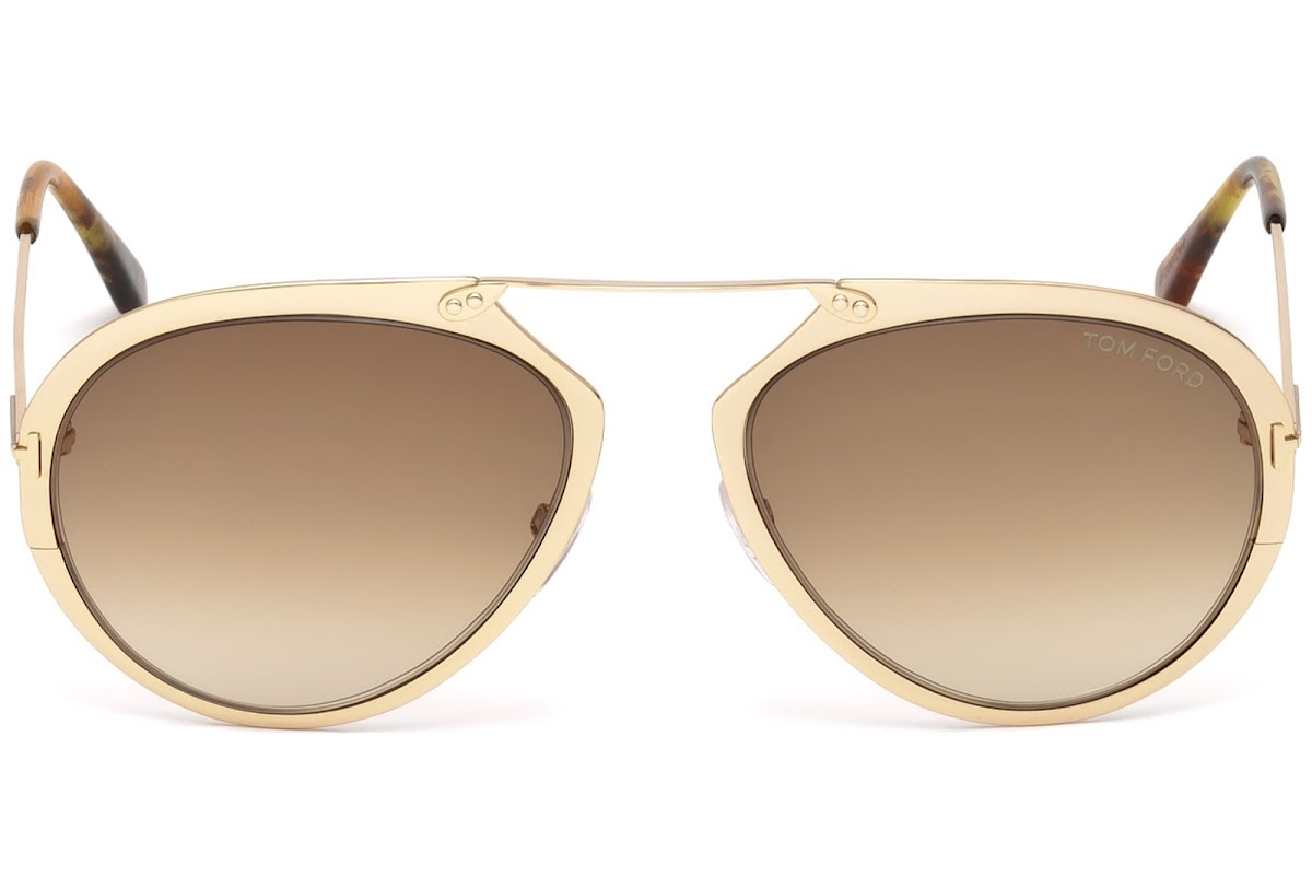 3a9e0477426ae Sunglasses Tom Ford Dashel FT0508 C55 28F (shiny rose gold   gradient brown)