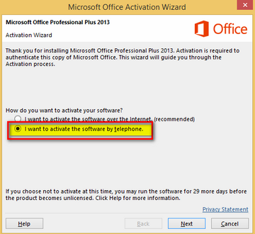 Office 2016 RTM [Activation Via Phone Or KMS]
