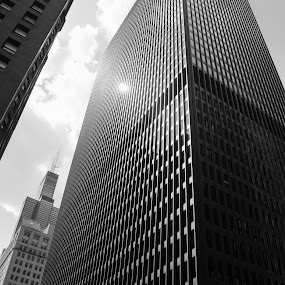 B&W Building in Chi-town by Chris Couper - Buildings & Architecture Architectural Detail ( black and white, pwcbuilding )