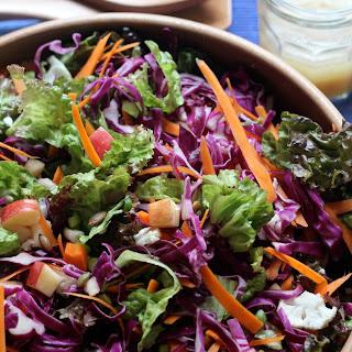 Apple Cabbage Salad with Brown Sugar Cider Vinaigrette.