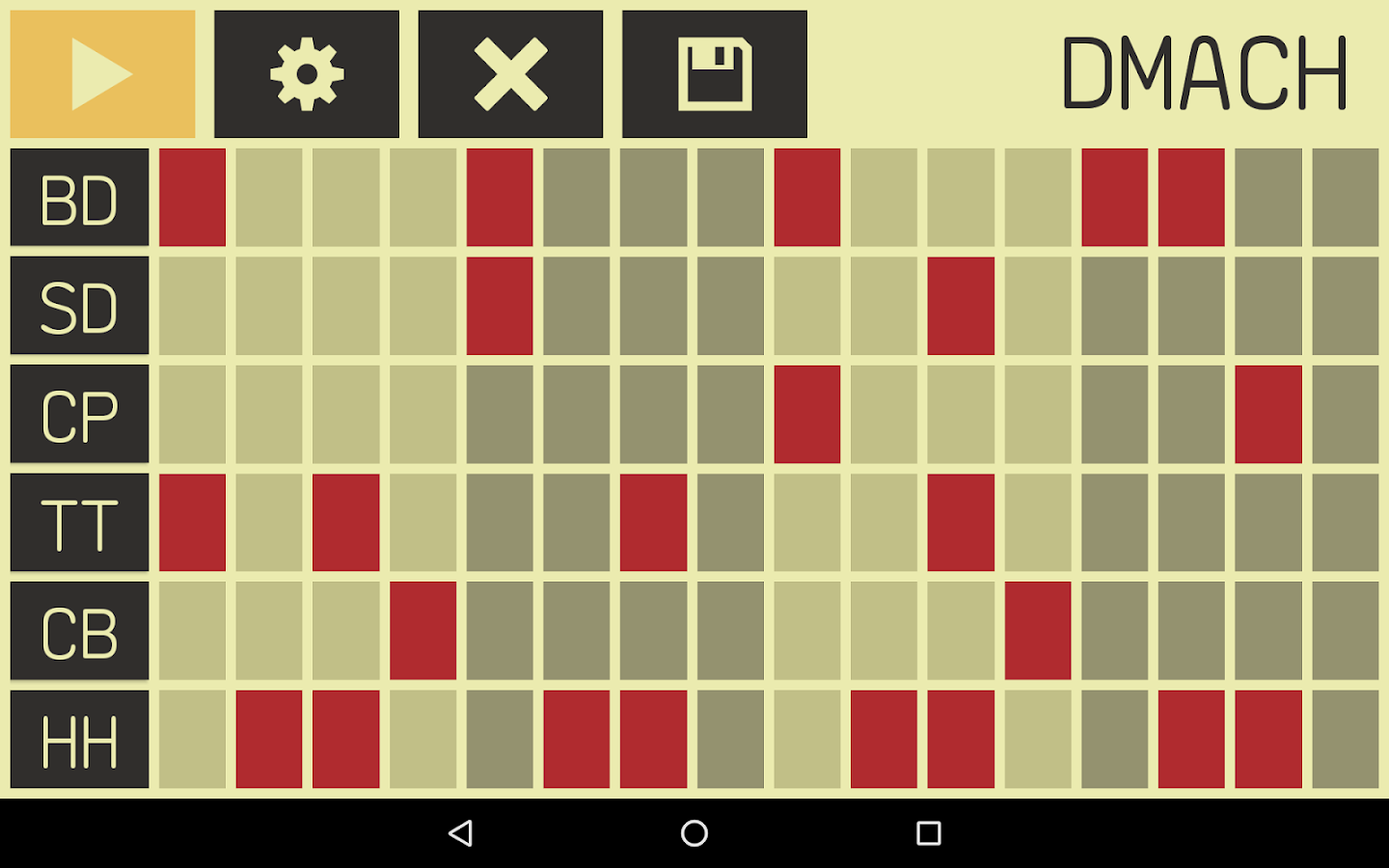 DMach - Drum Machine- screenshot