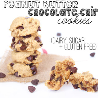 Vegan and Gluten Free Peanut Butter Chocolate Chip Cookies.