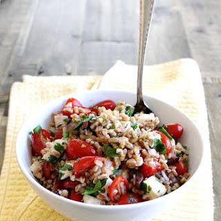 Summer Farro Salad with Cherry Tomatoes and Mozzarella Recipe