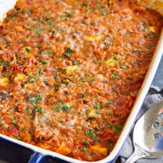 Healthy Turkey, Zucchini & Rice Casserole.