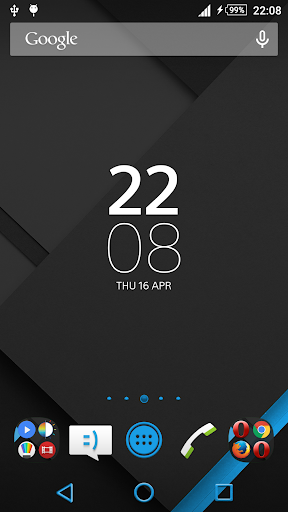 XZ Lollipop Theme BlueOnBlack